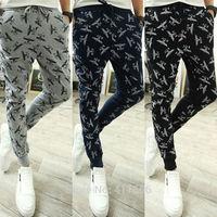 Free Shipping Korean Fashion Men's Hip Hop Dance Harem Jogging Pants Training Sport Casual Slim Feet Trousers Slacks