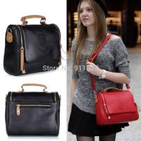 Women Lady Bag Handbag Faux Leather Shoulder Tote Satchel Messenger Bags Cross Body Black Red