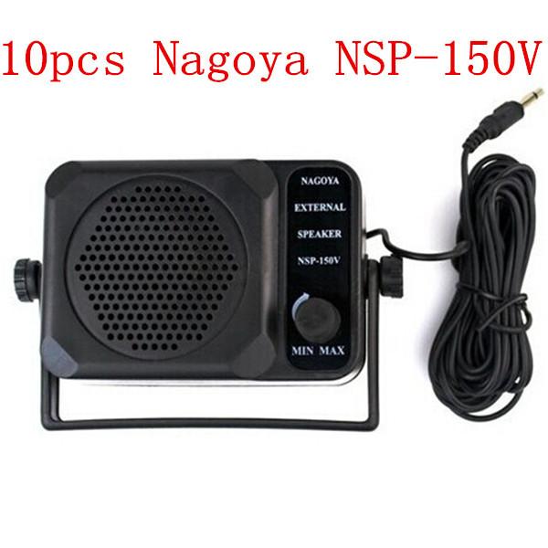 10pcs New Nagoya NSP-150V External Speaker for Ham Radios ICOM Yaesu Motorola Kenwood(China (Mainland))