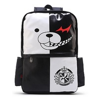 DANGAN RONPA Danganronpa Trigger Happy Havoc fashion cartoon style student's cute lovely black and white fashion korean backpack