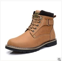 2014 new winter men's Martin boots ankle boots snow boots velvet men cotton-padded shoes causal shoes flats wear 614