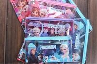 1200pcs Kids Christmas Gifts Frozen Children PVC Transparent Functional Pencil Case Pen Bags Frozen Students Stationery Bags