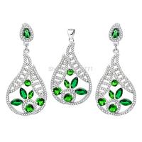 TZ0114/TZ0115/TZ0116 New Promotion 100% Genuine 925 Sterling Silver Set Pendant & Earring Set  For Women Free Shipping Wholesale