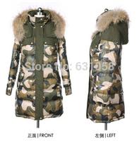 Free shipping 2014 NEW winter female Duck down coat female thickening large fur collar down coat outerwear --xl Xxl 3xl 4xl 5xl