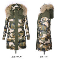 Free shipping 2014 NEW winter female Duck down coat female thickening large fur collar down coat outerwear --xl Xxl 3xl 4xl 5xl