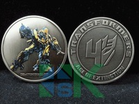 100pcs/lot Free Shipping 2014 Transformers Bumblebe Coin Honour to The End challenge coin