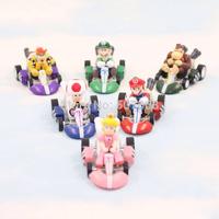 2014 15set/lot Super Mario Bros Car Kart Pull Back Cars PVC Action Figures Toys Dolls Classic Toys