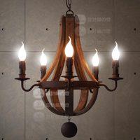 Nordic American retro chandelier pendant lamp vintage rustic color iron lighting fixture  for living room bar counter lighting