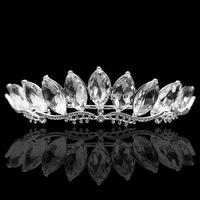 New Design Leaf Luxurious Glass Crystal Bridal Tiara Crown Wedding Hair Accessories Hair jewelry