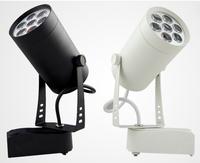 Free Shipping 7w LED track light for store/shopping mall lighting lamp Color optional White/black Spot light DHL express