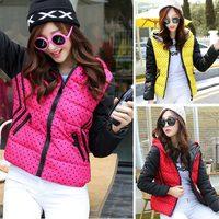 2014 new winter women's coat high quality down jacket coats down parka coats dot plus size L.XL.XXL ladies coat 869