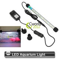 Free Shipping 5050 SMD Aquarium Coral Reef Grow LED Light Bar Strip White or White Blue 62cm 48cm 37cm 28cm 85-265V 3-6.5W