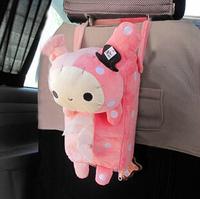 Car cartoon tissue box back hanging