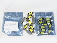 Free Shipping 10pcs 42mm 6W LED Car Auto Reading Light Lamp COB Festoon Dome Bulb White 12V