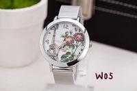 women wristwatches 2014 new Mesh belt watch tower belfry Lotus flower models watches free shipping 10pcs/lot