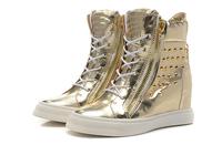 new unisex  rivet  height increasing high top sneaker shoes