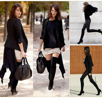 New 2014 Women High Heels Boots Sexy Fashion Autumn Winter Ladies Over The Knee Boots For Women Plus Size 34-43 59