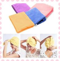 Magic Microfiber Twist Hair Dryer Quick Drying Towel Turban Cap Hat Lady Head Wrap