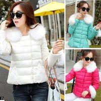 Ladies coat 2014 new winter women's coat high quality down jacket coats fur collar parka coats plus size L.XL.XXL 872