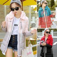 Patchwork color Ladies coat 2014 new winter women's coat high quality down jacket coats parka coats plus size L.XL.XXL,XXXL 968