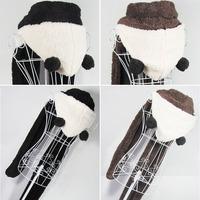 Korean winter super warm oversized cartoon panda hoodedhats gloves scarves one