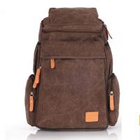 2015 Brand Design Double-Shoulder Canvas Laptop Bag Men's Backpacks Retro Men's Travel Bags 5 Colors Mochila Feminina Backpacks