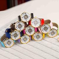 women watches brand 2014 new design PU Feather Watch free shipping  50pcs
