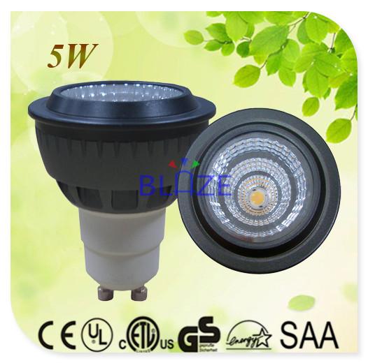 50pcs/Lot Wholesale Not Dimmable Sharp COB 5W led GU10 Spotlight bulbs replace halogen lamp(China (Mainland))