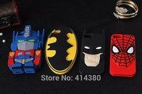 3D Cute Cartoon Superman Spiderman Batman Soft Rubber Superhero Silicone Case Cover for iPhone 5 5S 5G, 50pcs/lot