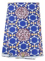 2014 Free Shipping Fabrics Textile Cloth Cotton Super Real Wax Hollandis RW07 Wax Batik Prints Fabric  6 yards/pc for Decoration