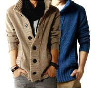 Men's New Korea Style Sweater Thick Cardigans Men Button Sweaters