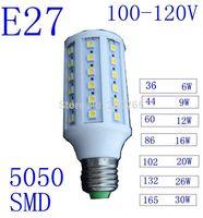 5pcs/lot Led lights White/Warm White E27 110V 36/44/86/102/132/165 LED 5050 SMD 6w/9w/16w/20w/26w/30w  lampada led lamps