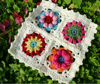 2014 new hand crochet square cup mat pads pastoral 10pcs/lot  free shipping