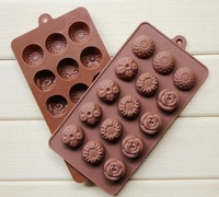 Transport Tools free Shipping-2014new! 1pcs 4 Types Flowers Diy Chocolate Ice Mould Cake Mold Silicone Cake/chocolate/cookie