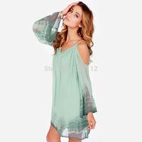 HIGH QUALITY!  v-neck long sleeve chiffon women's dress girl fashion dress XS-XXL, 141516599
