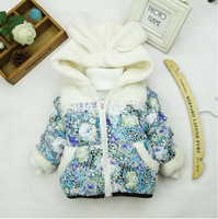 1 Set Retail, The girls warm winter coat. Hot baby kids coat High quality, the girls coat Children's clothes, girls jacket