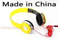 High quality circumaural headset color earphones wired 3.5mm noise cancelling headphone for iphone 5 PC MP3 MP4 iPod Tablet etc
