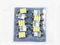Free Shipping 10pcs 36mm 9 SMD LED Interior Festoon Dome Car Auto Light Lamp Bulb White DC 12V