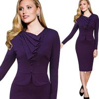 2014 New Fashion Women Empire Vintage Evening Dress Crochet Featuring V-neck Bodycon Shift Party Pencil Dress Plus Size S-XL