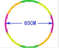 New soft hula hoop is suitable for adults waist increase fitness hula hoop 65 cm removable plastic children to lose weight