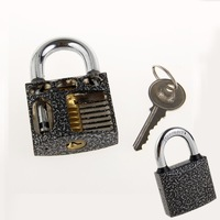 New Perspective Cutaway Inside View Practice Padlock Lock Locksmith Training Skill for Locksmith Beginner With One Key