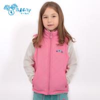 2014  autumn female  child cotton vest female polar fleece fabric children coat children outerwear warm jackets for girls