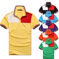 hot selling 2014 men's short sleeve t-shirt , free shipping cotton men's t shirt , slim cooling summer dress for men 13