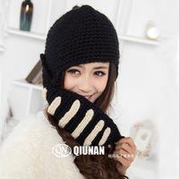 New 2014 Women's Hats High Quality Beanies Wool Knitted Hat Knight Cap Crochet Warm Caps Winter Hats Balaclava Hood Ski Mask