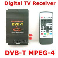 HD Car TV Tuner Mobile DVB-T MPEG-4 Digital TV Receiver Box With Dual antennas High Speed