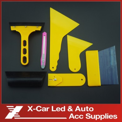 7pcs/set Auto Vehicle Window Film Wrap Application Installation Tools Kit Deluxe Car Vehicle Foil Wrap Vinyl Tools(China (Mainland))