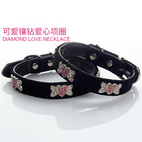 Fashion Black Designs Rhinestone Bling Dog Collar For Puppy Pet  ZS25 S/M Chihuahua Poodle Animals Cat Fashion Grooming Product