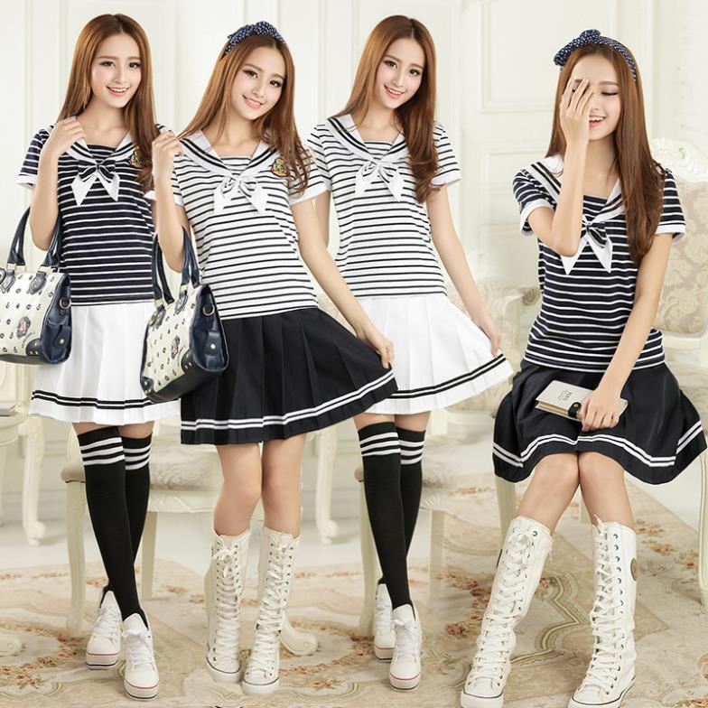 girls Top qualité uniforme scolaire japonais et coréen pour filles ...