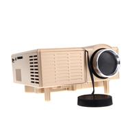 New!! HDMI Portable Mini LED Projector Home Cinema Theater Projektor support HDMI AV VGA USB SD Silver/Gold