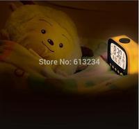Free Shipping 1Piece Retro TV Alarm Clock /  Desktop Alarm Clock with Thermometer & LED Night Light/ HOME night clock